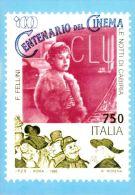 [DC0072] CARTOLINEA - MOLTO RARA - CENTENARIO DEL CINEMA - RIPRODUZIONE DEL FRANCOBOLLO - LE NOTTI DI CABIRIA-F.FELLINI - Cinema