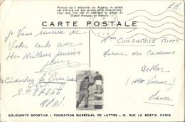 Cp AFRIQUE ALGERIE Djebel Ao Groupe D´enfants Fondation Maréchal DE LATTRE PARIS ( Montagne ) Armée Française En Guerre - Algeria
