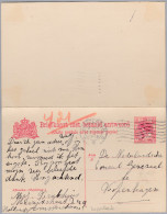 Niederlande 1918-III-22 Amsterdam Auf Doppelkarte Nach Kopenhagen - Postal Stationery