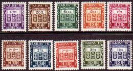Etablissements Français Dans L'Inde - Timbres-taxe De 1948 - Y&T 19 à 28 ** (MNH) - India (1892-1954)