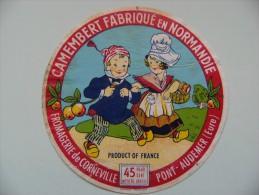 Etiquette Camembert - Petits Normands - Fromagerie Loevenbruck à Corneville/Risle - Eure  A Voir ! - Fromage