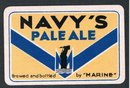Dos de carte � jouer ancien Navy�s Pale Ale - Marine - Beer-Brewery Playing card Single card