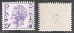 Année 1973 - R49 -  5F Violet Avec Numéro Au Verso  -  Cote 0,35€ - Rollen