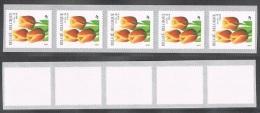 Année 1999 - R93** -  21F Tulipe Bande De Cinq  -  Cote 30,00€ - Coil Stamps