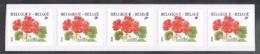 Année 2001 - R104** -  17F Géranium  Bande De Cinq  -  Cote 85,00€ - Coil Stamps