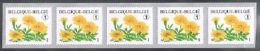 Année 2008 - R114** -  Tagetes Patula  - Bande De Cinq  -  Cote 11,50€ - Coil Stamps