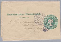 Mexico 190?-7-15 Streifband Nach Ponte Campovasto GR - Mexique