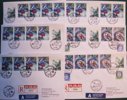 Ski-WM 1997 Trontheim Norwegen, 6 Belege  (187) - Norvège