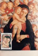Carte-Maximum DOMINICA  / A. Mantegna / Vierge et Enfant