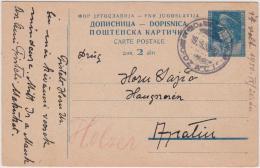 Gansache Postkarte Jugoslawien 1950 - 1945-1992 Sozialistische Föderative Republik Jugoslawien