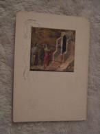 Pittore Duccio di Buoninsegna - in cammino verso Emmaus - Duomo di Siena 1983