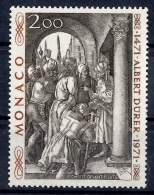 "Monaco Maury n� 915A non-�mis l�gende ""Albert D�rer"". Neuf ** MNH, signature et certificat Calves. A saisir!"