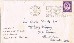 9976. Carta YORK To Greenwick (England) 1958. REEXPEDITE - 1952-.... (Elizabeth II)