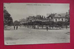 Cp Romilly Sur Seine Place De La Gare - Romilly-sur-Seine