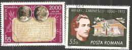 Romania 1975 Usato - Mi.3262;3264  Yv.2900;2907 - 1948-.... Republiken