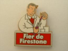 PIN´S FIER DE FIRESTONE - CHERCHEUR - PNEUMATIQUE - Pins