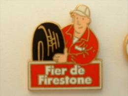 PIN´S FIER DE FIRESTONE - MONTEUR - PNEUMATIQUE - Pins