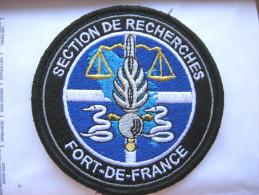 INSIGNE TISSUS PATCH GENDARMERIE NATIONALE LA SECTION DE RECHERCHE DE FORT DE FRANCE MARTINIQUE 972 (VELCRO)