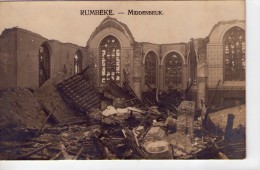 Belgique.. Rumbeke.. Roulers.. Roeselare.. Carte Photo.. Ruines De L'Eglise.. Middenbeuk - Roeselare