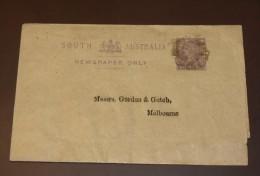 South Australia Newspaper Streifband  Melbourne   #cover2770 - 1855-1912 South Australia