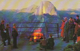 Fire On Glacier Point Yosemite National Park