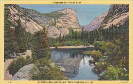 Mirror Lake and Mount Watkins Yosemite National Park Curteich