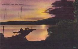 Sunset On Casco Bay Maine 1951