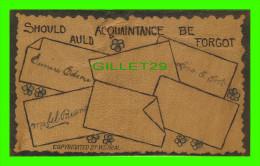 CARTES EN CUIR SOUPLE - SHOULD AULD ACQUAINTANCE BE FORGOT - W. S. HEAL - - Cartes Postales