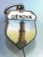 GENOVA - Italy, Enamel, Pin, Badge - Cities