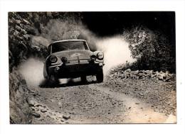 Automobile Citroen DS Rallye Equipage  Neyret Terramorsi Yougoslavie Etape Stolac Split Marathon Liege Sofia Liege 1964 - Voitures De Tourisme