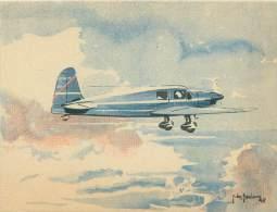"""CPM - CAUDRON """"Simoun""""  (Grand Tourisme Et Liaisons Rapides) - 1939-1945: 2ème Guerre"""