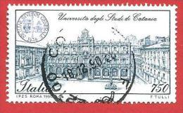 ITALIA REPUBBLICA  - USATO - 1990 - SCUOLE D´ITALIA - UNIVERSITA´ DI CATANIA  - £ 750  - S. 1948 - 6. 1946-.. Repubblica