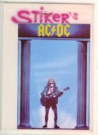 Autocollant  Stiker's AC  DC Sous Blister Agrafe Sur Support Seulement  BE - Stickers