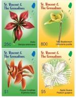 ST. VINCENT 3701-4 ; IGPC # 1013 CO ; MINT N H STAMPS ( FLOWERS - St.Vincent & Grenadines