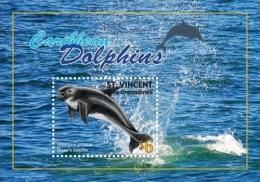 ST. VINCENT  3762 ; IGPC # 1043 S ; MINT N H STAMPS ( DOLPHINS ; MARINE LIFE - St.Vincent & Grenadines