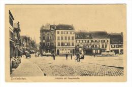 """ALLEMAGNE  /  ZWEIBRÜCKEN  /  HALLPLATZ  MIT  HAUPTSTRASSE  ( Colonne MORRIS ) /  Cachet  """"Trésor Et Postes"""", En 1918 - Zweibruecken"""