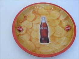 Vintage ! Original Singapore Round Coca Cola Tin Serving Tray - Trays