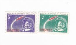 Vietnam 1961 Gagarin Set Mint Hinged - Vietnam