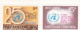 Vietnam 1973 25th Anniversary Of WHO Set Mint Never Hinged - Vietnam
