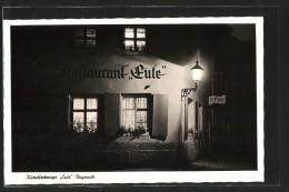 AK Bayreuth, Blick Auf Gasthaus Eule Bei Nacht - Bayreuth
