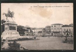 Cartolina Siena, Passeggio della Lizza con il Monumento a Garibaldi