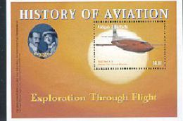 ANTIGUA  & BARBUDA  2691 MINT NEVER HINGED SOUVENIR SHEET HISTORY OF AVIATION   ( - Airplanes