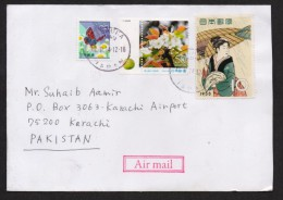 Flowers, Butterflies, Comics, Postal History Cover From JAPAN 12.2.2014 - Schmetterlinge