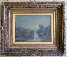 Tableau Les gorges de Daoulas(29) huile sur bois 35x26.5cm  par L.Illalifilattre tr�s ancien cadre somptueux 60x51cm