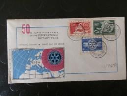 43/933   FDC  BELGE  1954 - Rotary, Lions Club