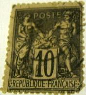 France 1877 Pax And Mercur 10c - Used - 1876-1898 Sage (Type II)