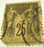 France 1877 Pax And Mercur 25c - Used - 1876-1898 Sage (Type II)