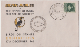 India  1966  Woodpecker  Birds Stamp Exhibition  Bombay  Special Cover   # 83373  Inde Indien - Songbirds & Tree Dwellers