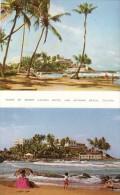 Two Views Of Mount Lavinia Hotel And Beach - Sri Lanka (Ceylon)