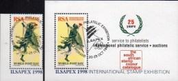 Expo Mails Post-Läufer Südafrika 1073+Block 58 O 6€ Farbkatalog ILSAPEX 1998 Hojita Philatelic Sheet Bf South Africa RSA - Blocs-feuillets